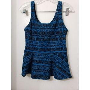 Express blue tank top Size small